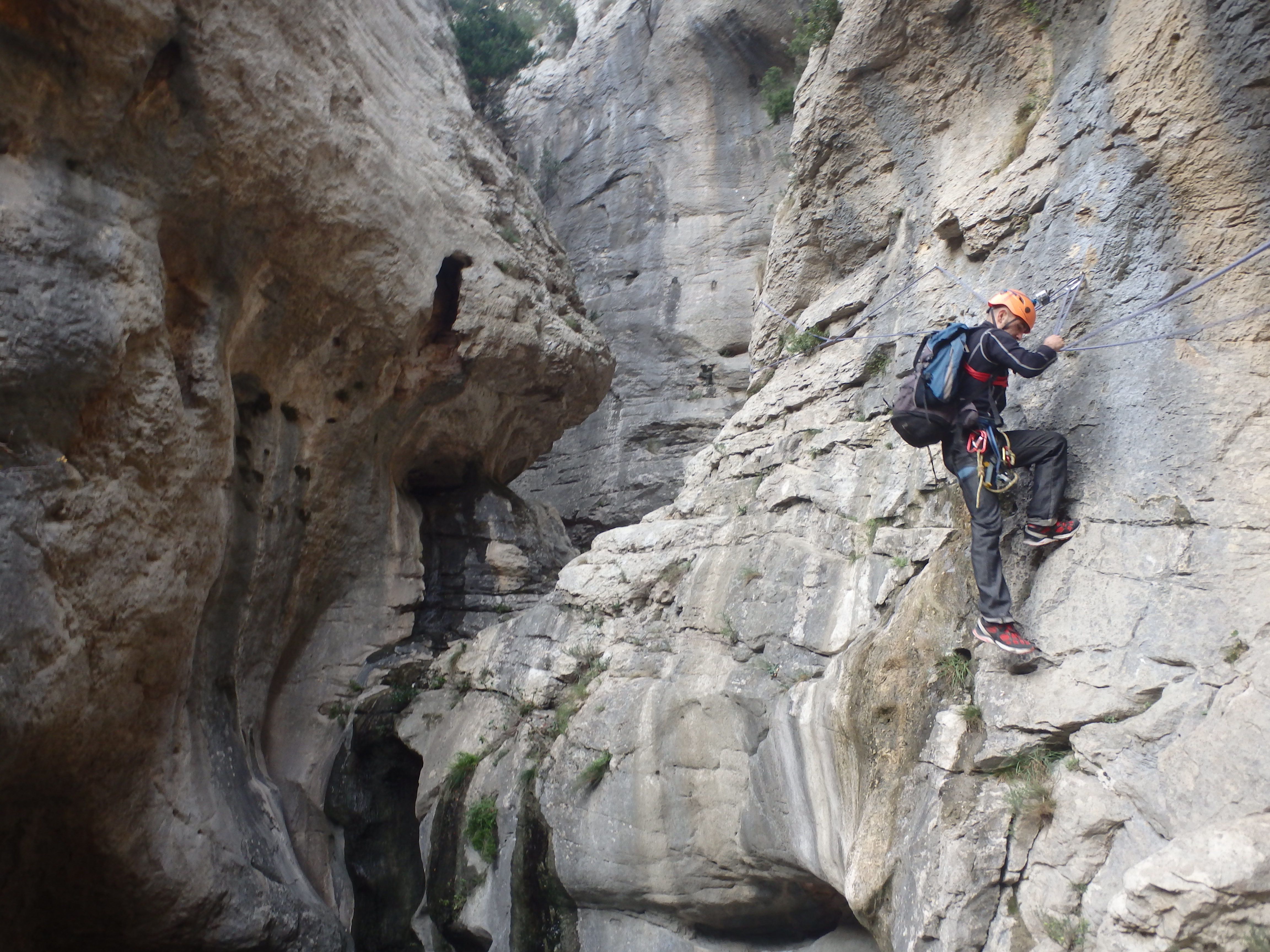 Randonnée-rappel du Verdus près de Montpellier à St Guilhem le Désert
