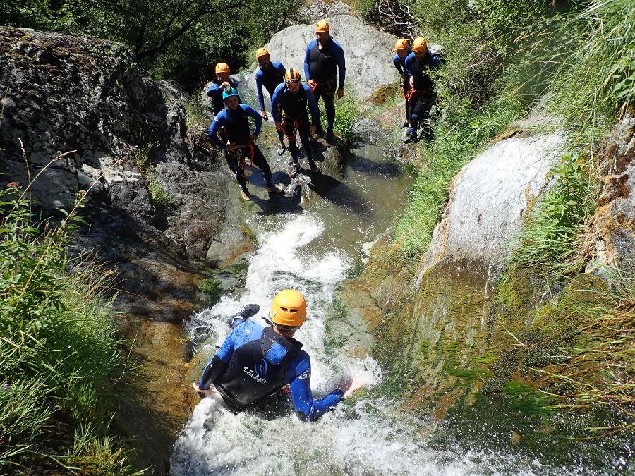 Canyoning Au Ruisseau D'Albès Dans Le Caroux Et L'Hérault, Près De Montpellier