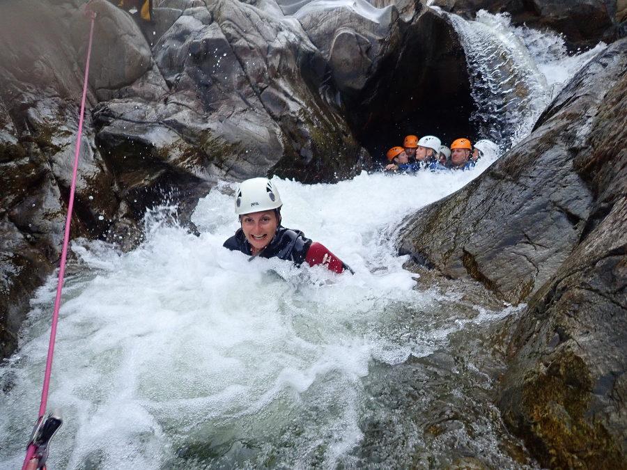 Canyoning Dans Le Gard En Cévennes, Près D'Anduze Avec L'équipe D'entre2nature