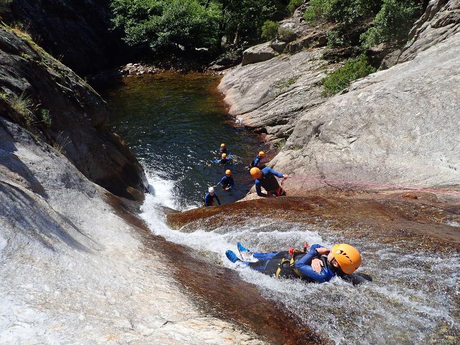 Canyon Du Rec Grand Près De Montpellier Et Mons La Trivalle Dans L'Hérault En Languedoc-Roussillon