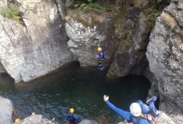 Canyon Du Ruisseau D'Albès Dans Le Caroux
