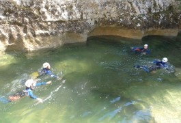 Randonnée Aquatique Du Ravin Des Arcs En Languedoc, Près De Montpellier, Avec Les Moniteurs D'entre2nature.