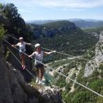 Enterrement De Vie En Via-ferrata Près De Montpellier Dans L'Hérault Et Le Gard