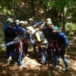 Activités De Pleine Nature En Canyoning Pour Un Enterrement De Vie De Garçon à Sensations Dans Les Cévennes Dans Le Gard En Languedoc-Roussillon.