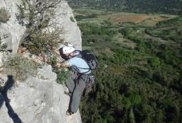 Escalade Grande Voie Au Thaurac, Près Des Cévennes Et De Montpellier, Dans L'Hérault Et Le Gard En Languedoc