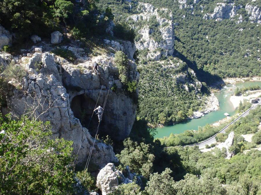 Via Ferrata Du Thaurac Près De Montpellier Dans L'Hérault Avec Les Moniteurs Professionnels D'entre2nature, En Languedoc-Roussillon