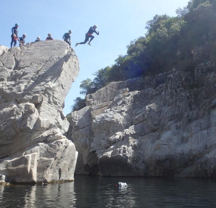 Canyoning En Cévennes Près De St-Jean Du Gard Dans Le Gard Aux Frontières De L'Hérault En Languedoc