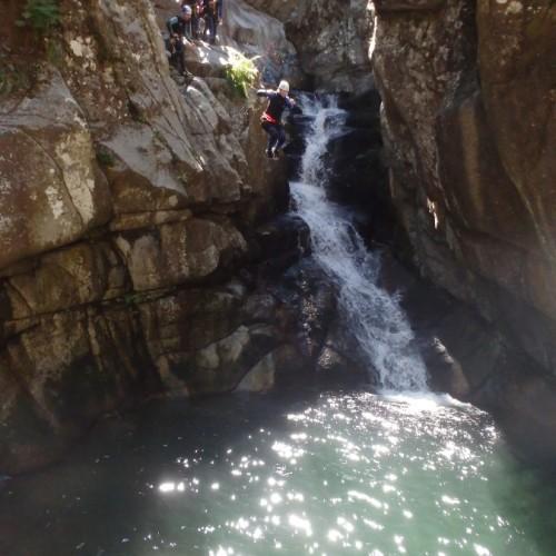 Canyoning Au Tapoul Près De L'Aigoual, Dans Les Cévennes, Près Du De L'Hérault En Languedoc-Roussillon.