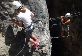Sports Nature Près De Millau, Dans La Via-ferrata Du Liaucous. Canyoning, Escalade Et Parcours Aventure...