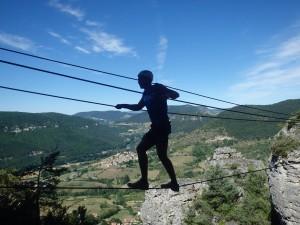 Via-ferrata du Liaucous avec les moniteurs d'entre 2 nature, basé à Montpellier dans l'Hérault