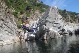Canyoning Du Soucy En Cevenns Dans Le Gard, Près De Montpelleir