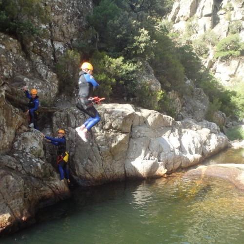 Canyoning Initiation Dans Le Caroux Au Rec Grand, Près De Mons La Trivalle, Dans L'Hérault