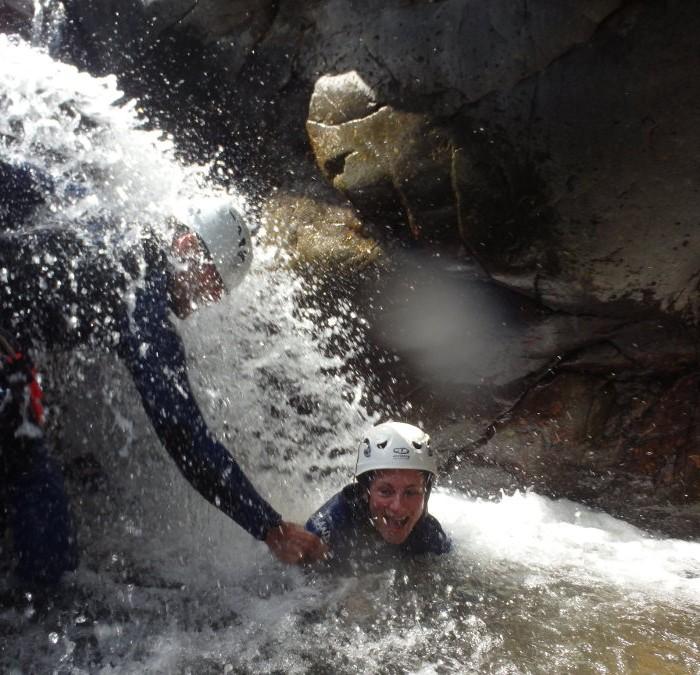Canyon Initiation En Cévennes Dans Le Gard, Près D'Anduze