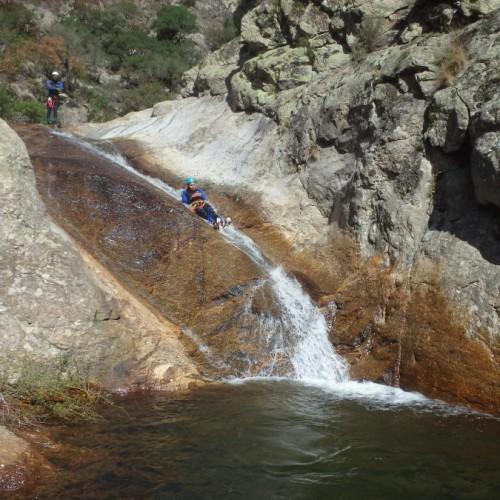 Canyoning Au Rec Grand Dans Le Caroux, Près De Montpellier Dans L'Hérault