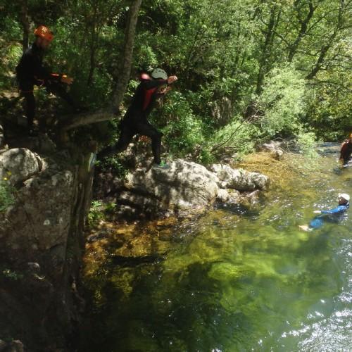 Canyoning Aux Cascades D'Orgon En Cévennes, Près Du Vigan Dans Le Gard