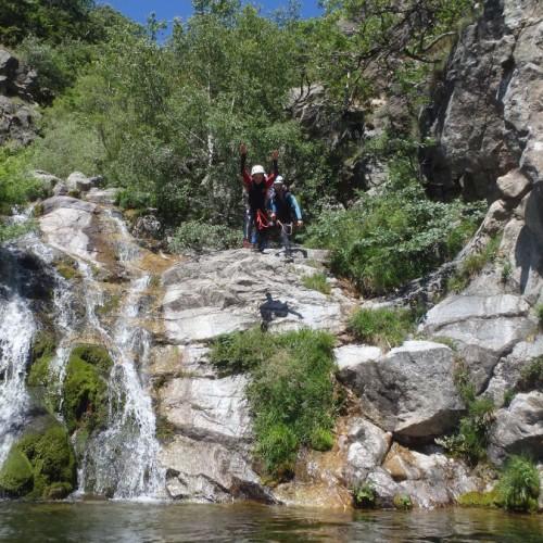 Canyoning Au Mont Aigoual Dans Les Cévennes Près Du Vigan Dans Le Gard