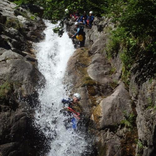 Canyoning-au Vigan En Cévennes Près Du Mont Aigoual Dans Le Gard