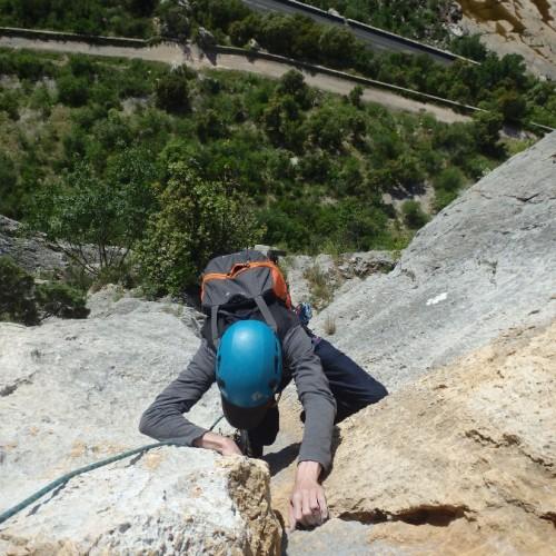 Escalade En Grande Voie Avec Entre2nature Basé à Montpellier Dans L'Hérault