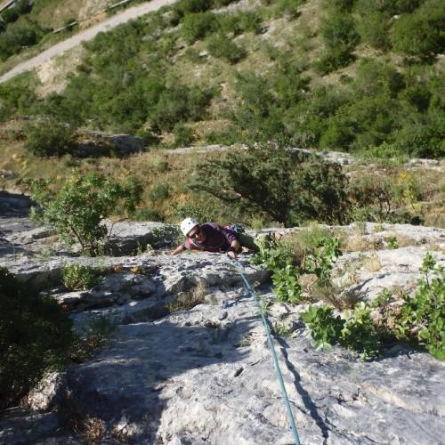 Escalade En Grande Voie Dans L'Hérault Avec Les Moniteurs De Montpellier