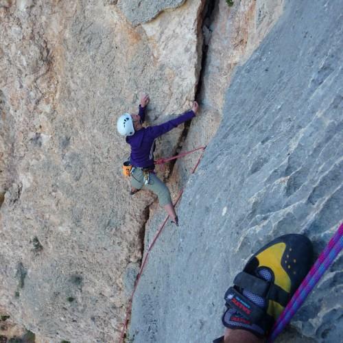 Moniteur D'escalade En Grande Voie Basé Sur Le Languedoc-Roussillon