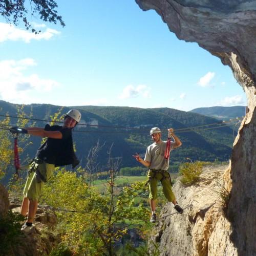 Via-ferrata En Aveyron Près De Millau Et Des Gorges Du Tarn