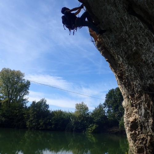 Via-ferrata Et Dévers Dans Le Gard Au-dessus Du Vidourle, Près De Lunel