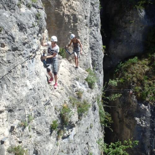 Via-ferrata Du Liaucous Près De Millau Et Des Gorges Du Tarn