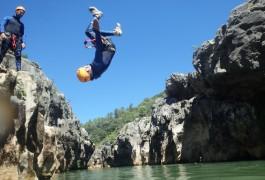 Canyoning Près De Montpellier Et De St-Guilhem Le Désert Dans Les Gorges De L'Hérault