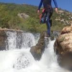 Canyoning Au Pont Du Diable à St-Guilhem Le Désert Près De Montpellier Dans L'Hérault En Languedoc-Roussillon