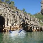 Canyoning Près De Montpellier Et St-Guilhem Le Désert Dans L'Hérault Au Pont Du Diable