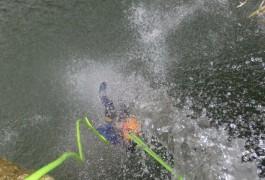 Canyoning Près De Montpellier Au Pont Du Diable Dans L'Hérault à Saint-Guilhem Le Désert
