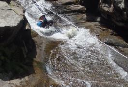 Canyoning En Cévennes, Près Du Mont Aigoual, Dans Le Canyon Du Tapoul
